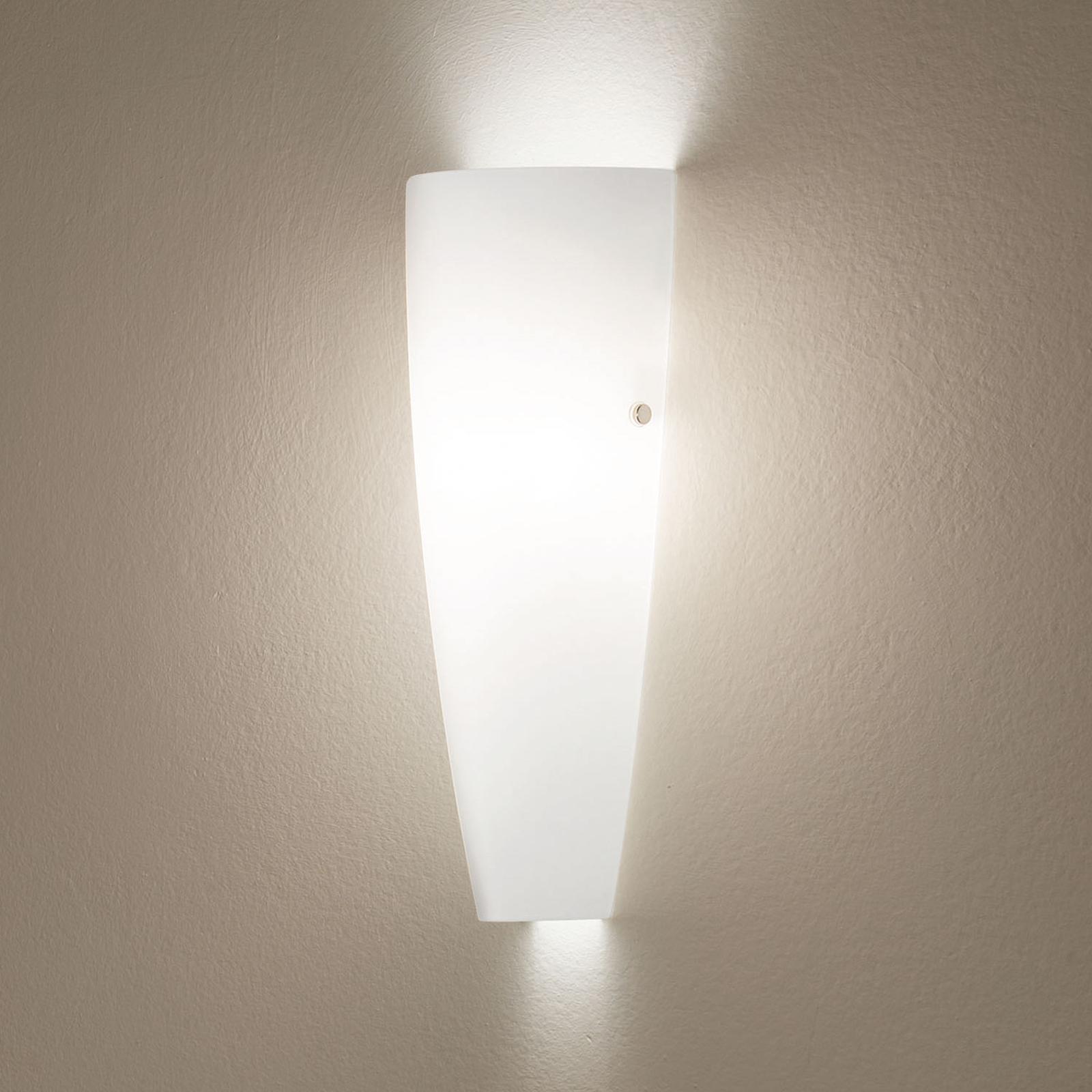 Bílé nástěnné světlo Dedalo IP44