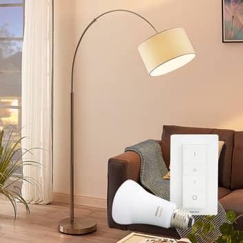 Stojací lampa Railyn s Philips Hue E27 a stmívačem