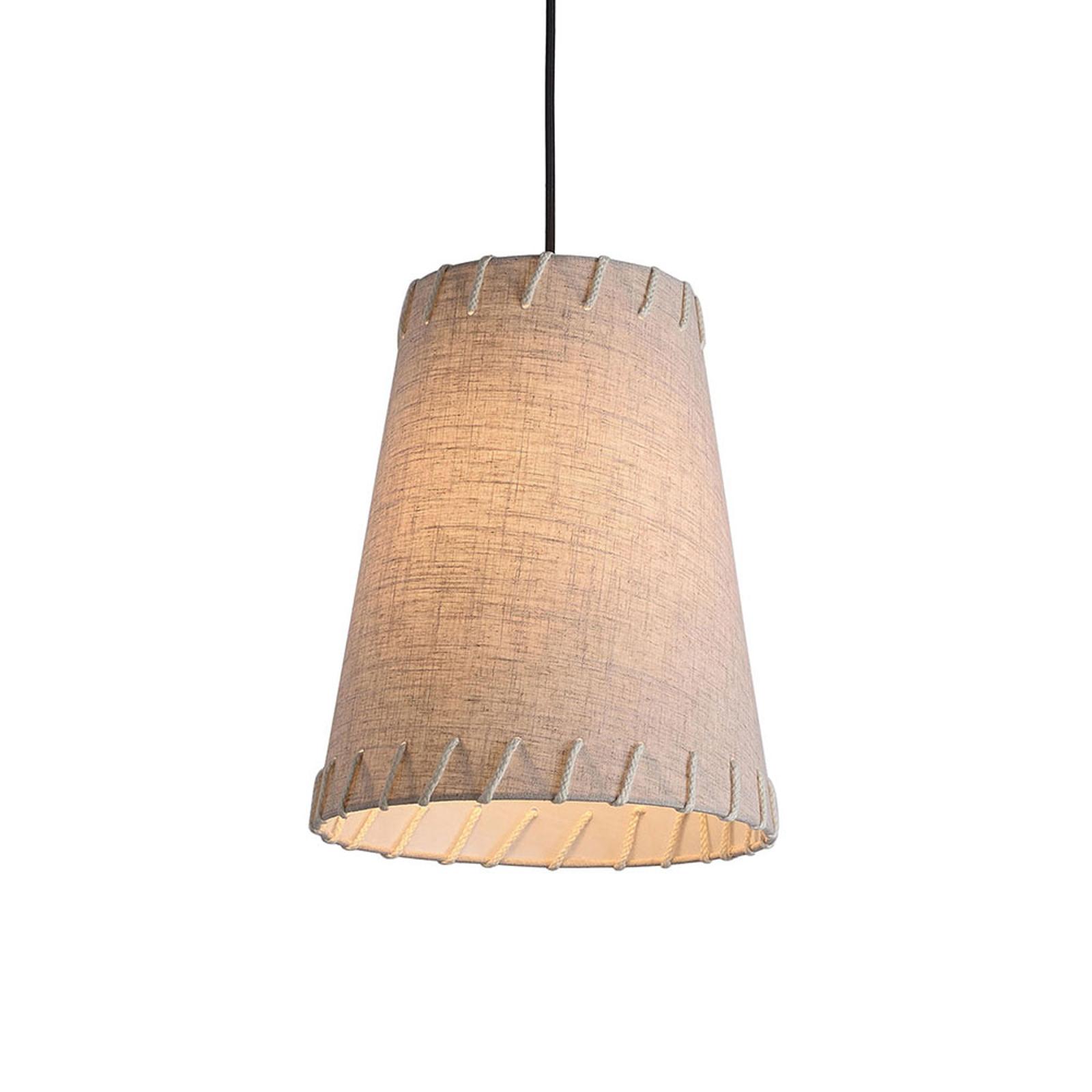 Lampa wisząca Timor, tkanina, beżowa