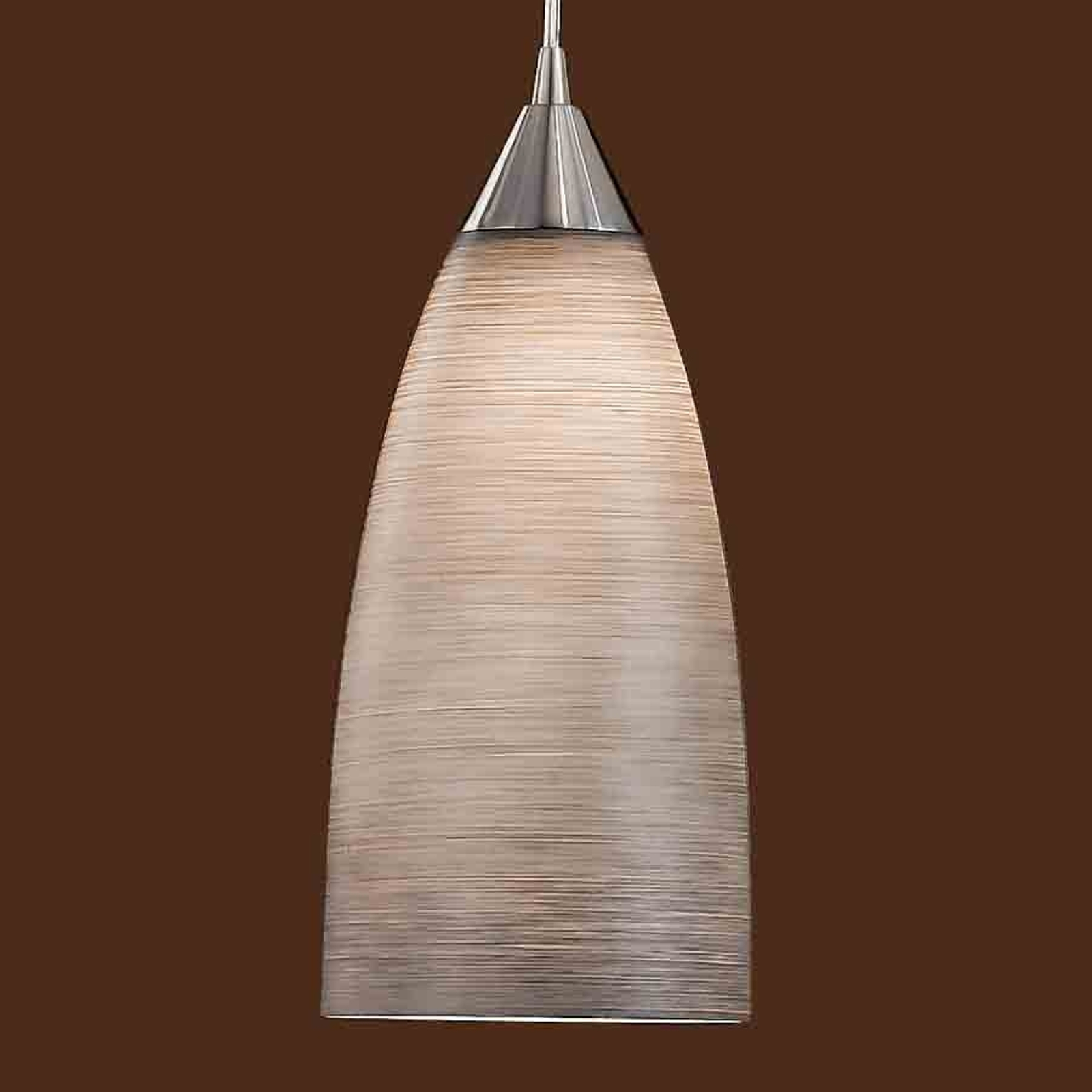 Lampa wisząca MADINA, śr.15 cm, brązowy