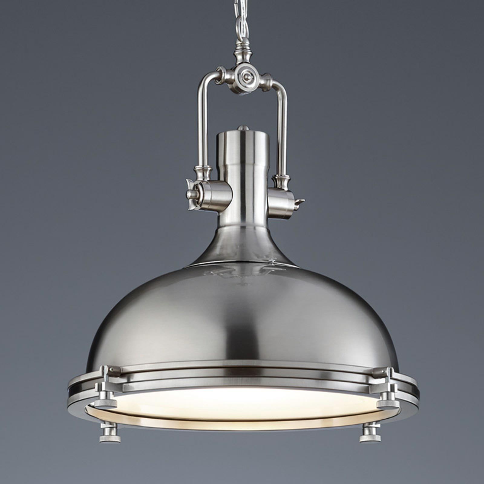 Opvallende hanglamp Boston mat nikkel