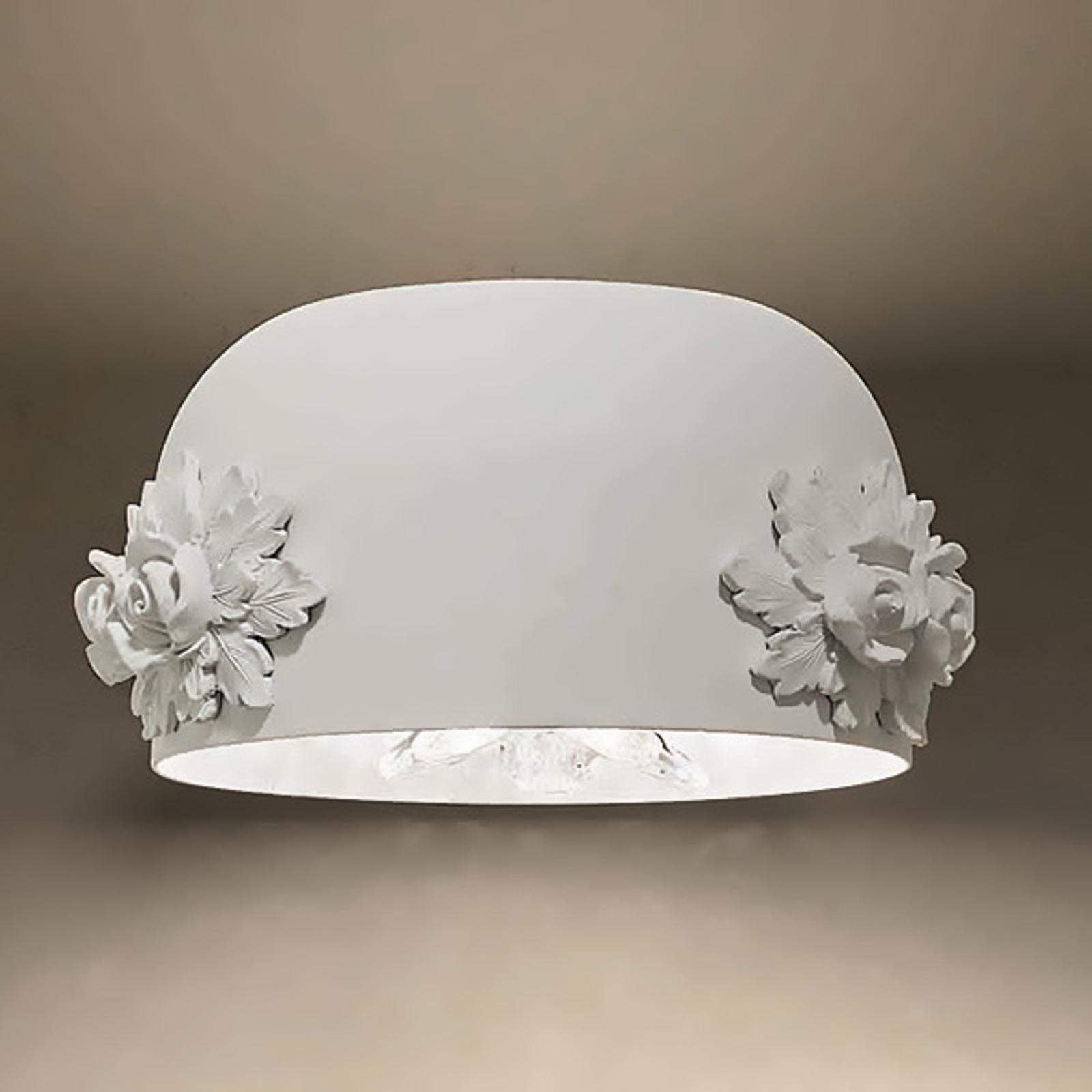 Applique LED Dame en blanc avec diffuseur cristal