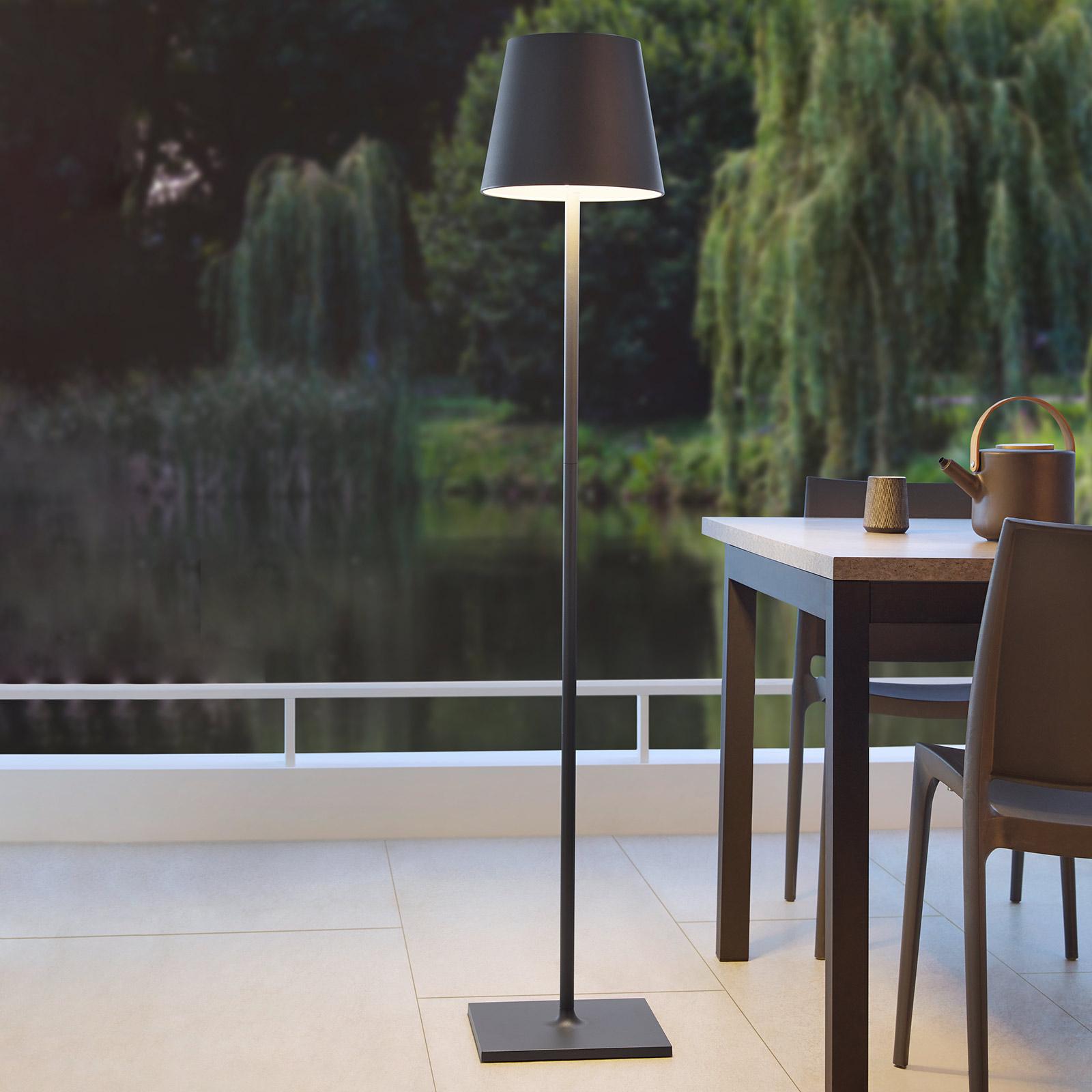 LED-gulvlampe Quint Outdoor, trådløs, antrasitt