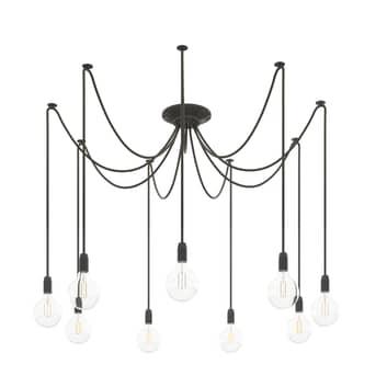 Phoenix hængelampe, 9 lyskilder, sort