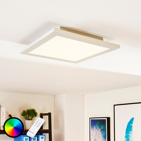 Quadratisches LED-Panel Tinus, RGB und warmweiß