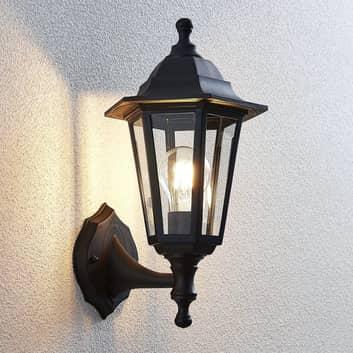 Lanterneformet udendørs væglampe Nane, sort