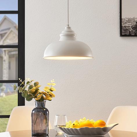 Lindby Cliona závěsné světlo bílá matná