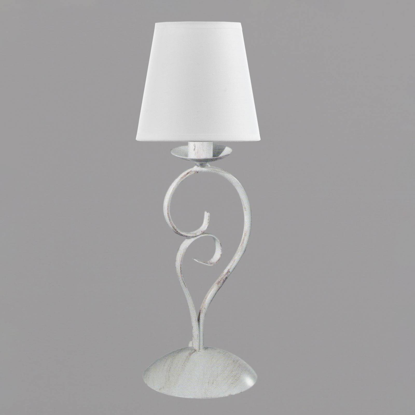 EULUNA Stolní lampa Pompei 50cm bílé textilní stínidlo