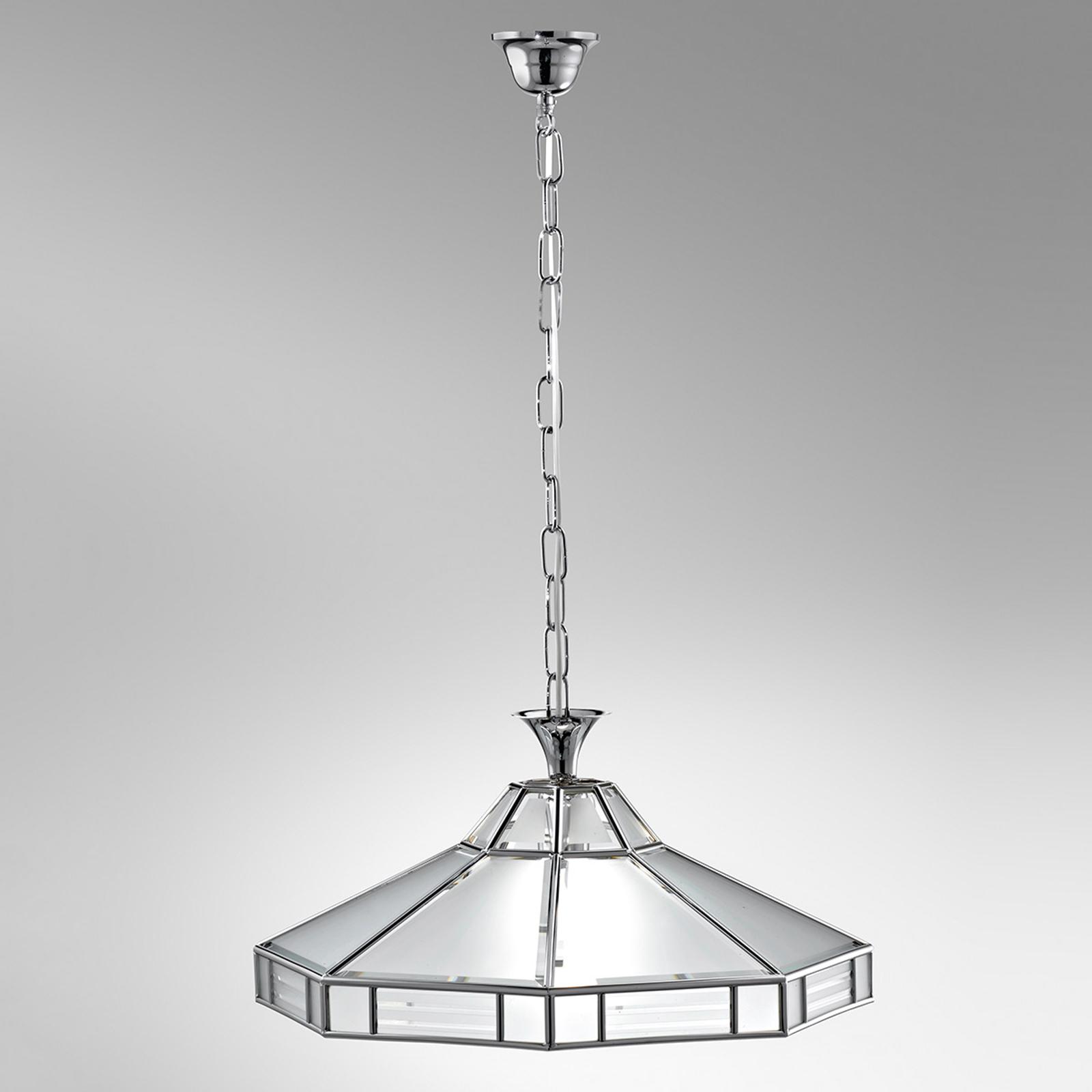 Ottekantet hængelampe Giana, krom