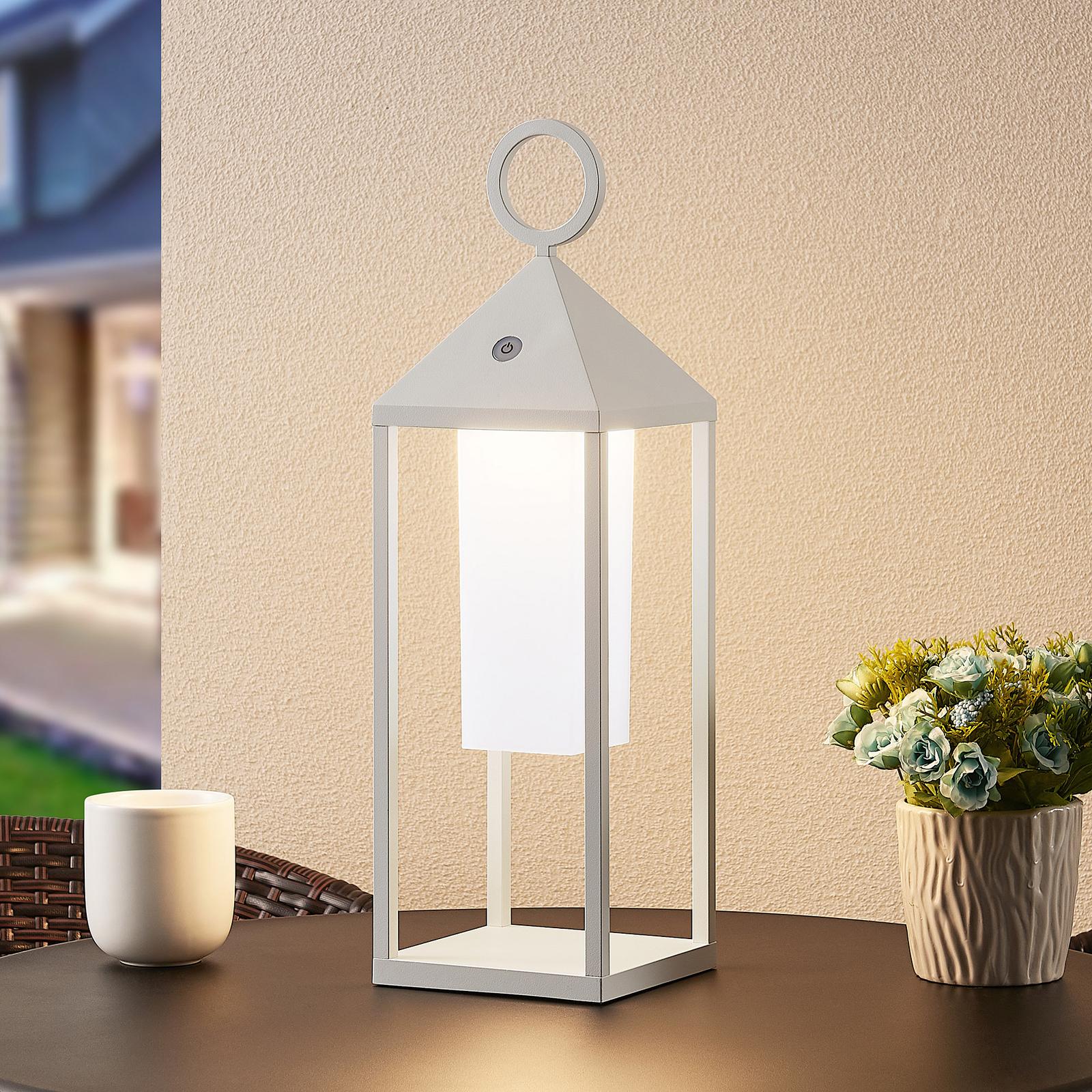 Lucande Miluma LED venkovní lucerna, 54 cm, bílá