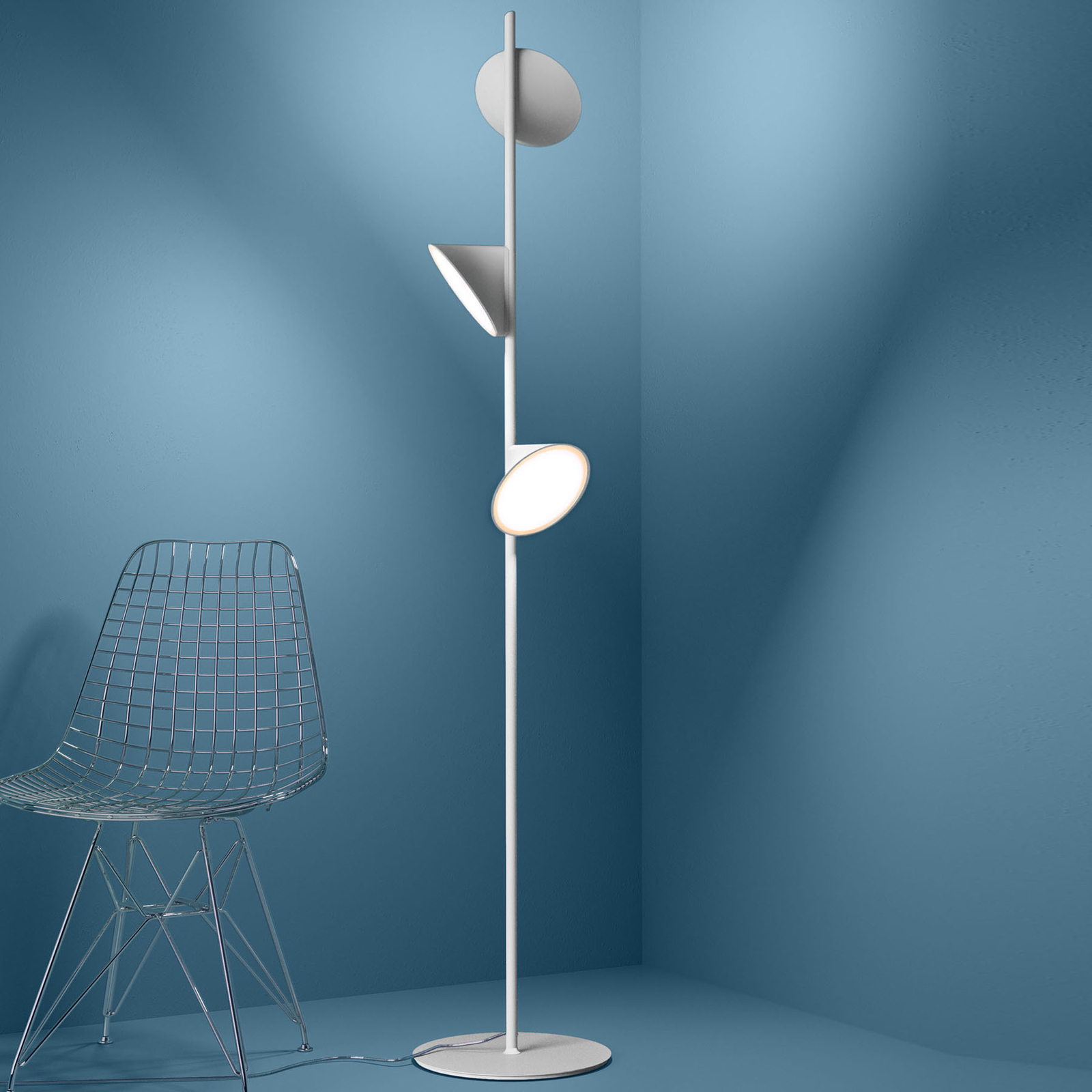 Axolight Orchid LED-Stehleuchte, weiß
