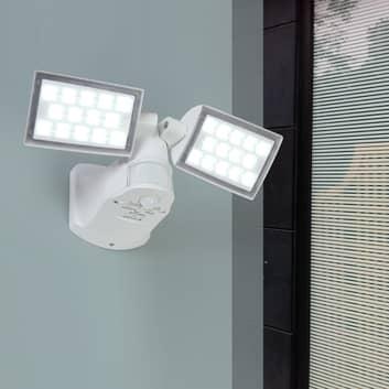 2-lamppuinen LED-ulkoseinävalo Peri, liikeilmaisin