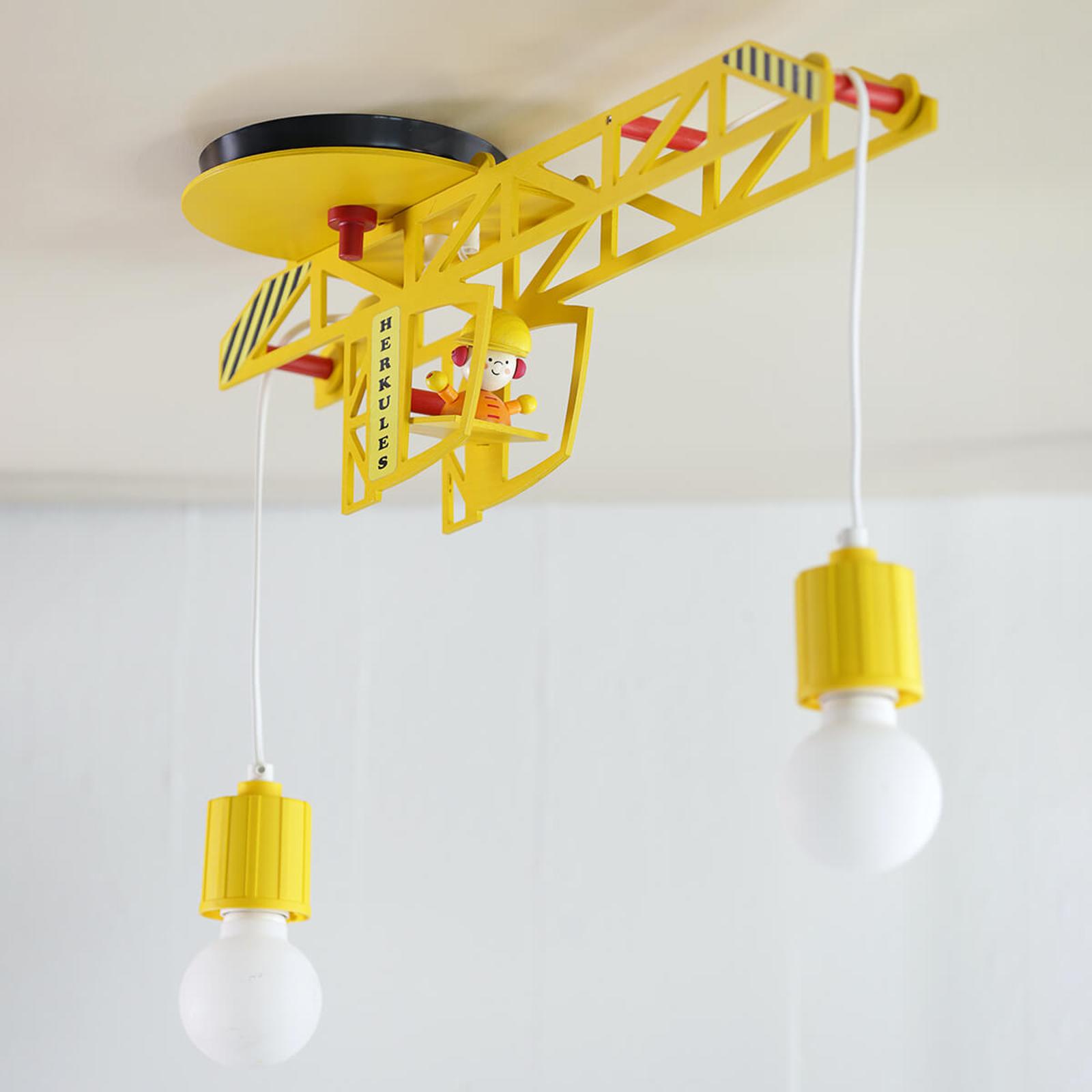 Plafondlamp Bodo in kraanvorm
