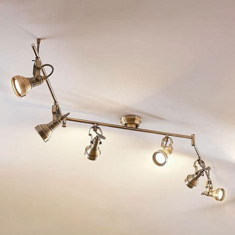 Sechsflammige LED-Deckenlampe Perseas, GU10 LED