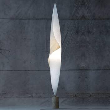 Kokongaktig golvlampa Wo-Tum-Bu 1 med dimmer