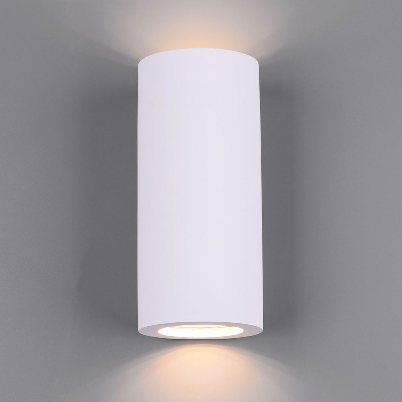Wandlamp Zazou van gips, 2-lamps