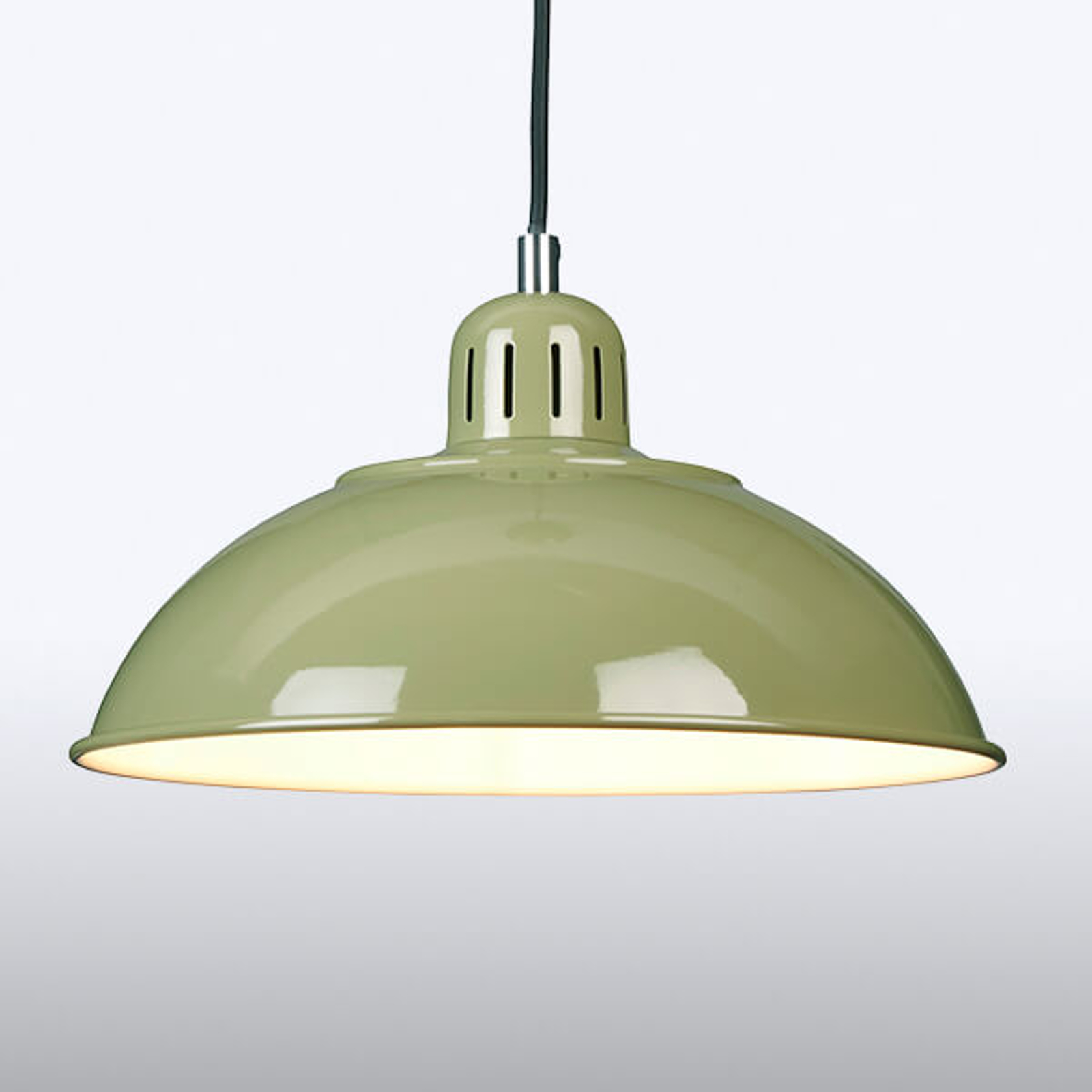 Groene hanglamp Franklin in Retrostijl
