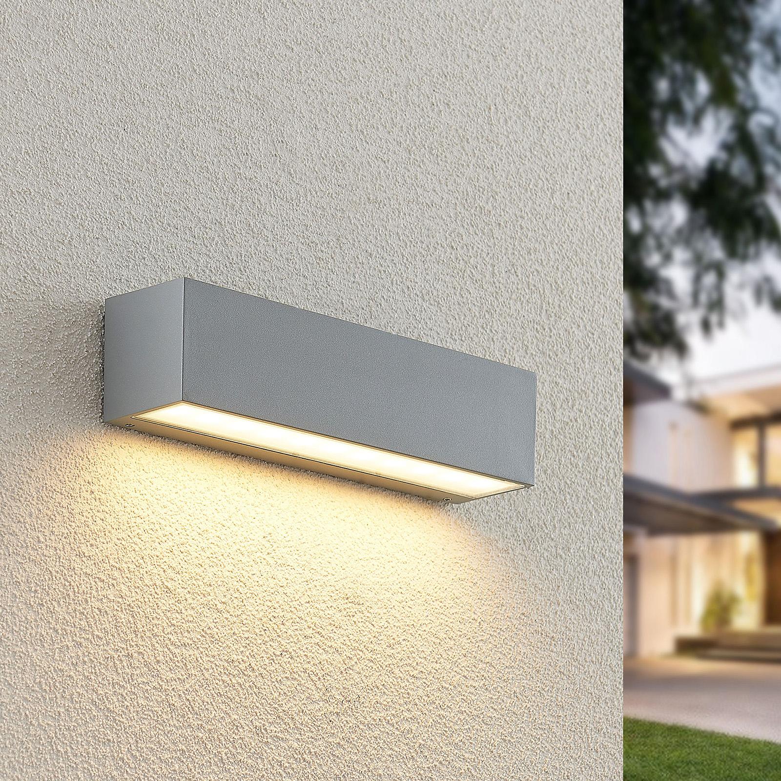 Lucande Lengo LED-væglampe, 25 cm sølv 1 lyskilder