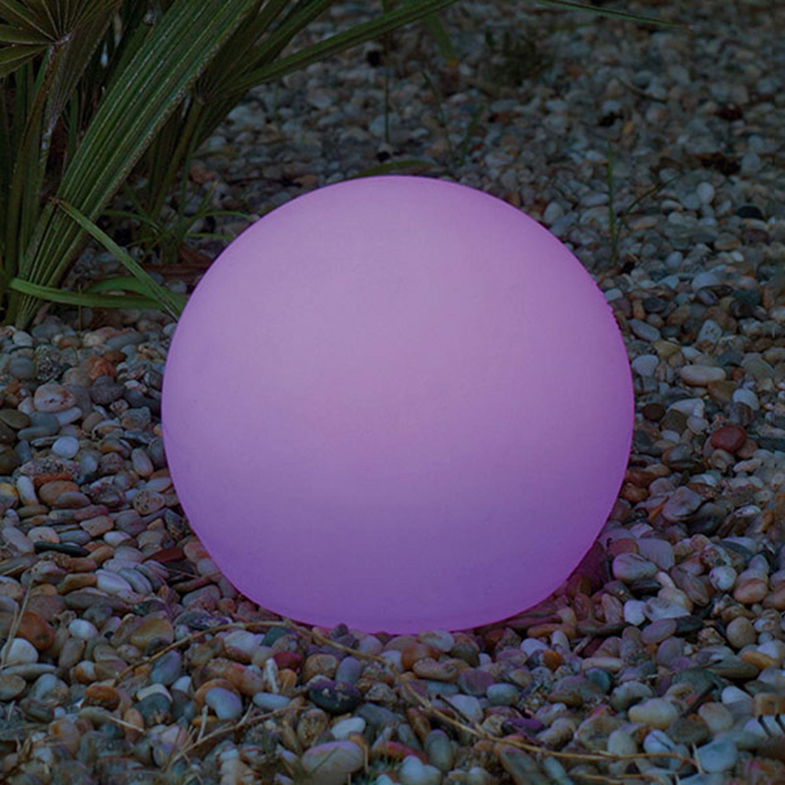 Newgarden Buly -LED-aurinkovalaisin, IP65, Ø 60 cm