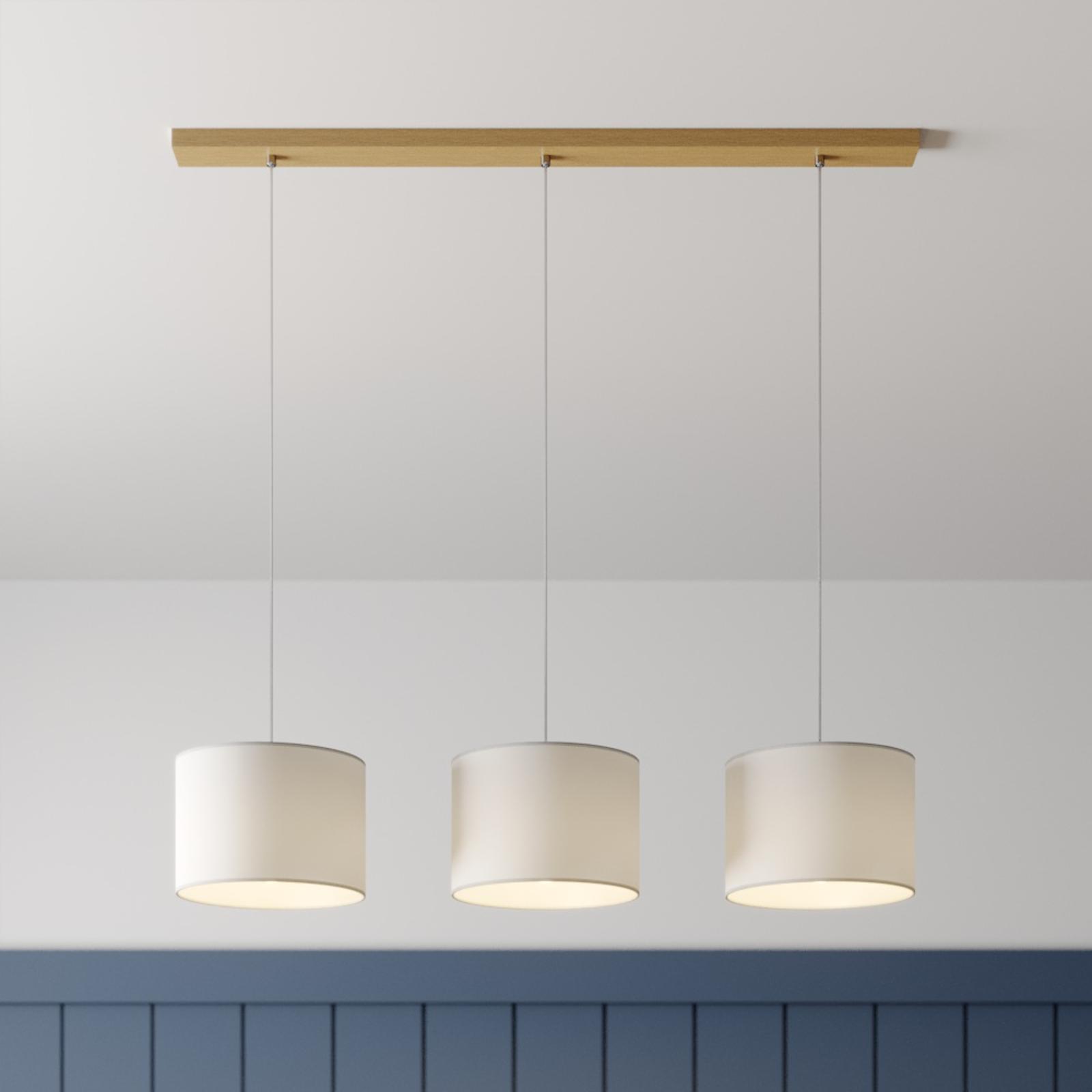 Lampa wisząca Corralee, biała, 3-punktowa