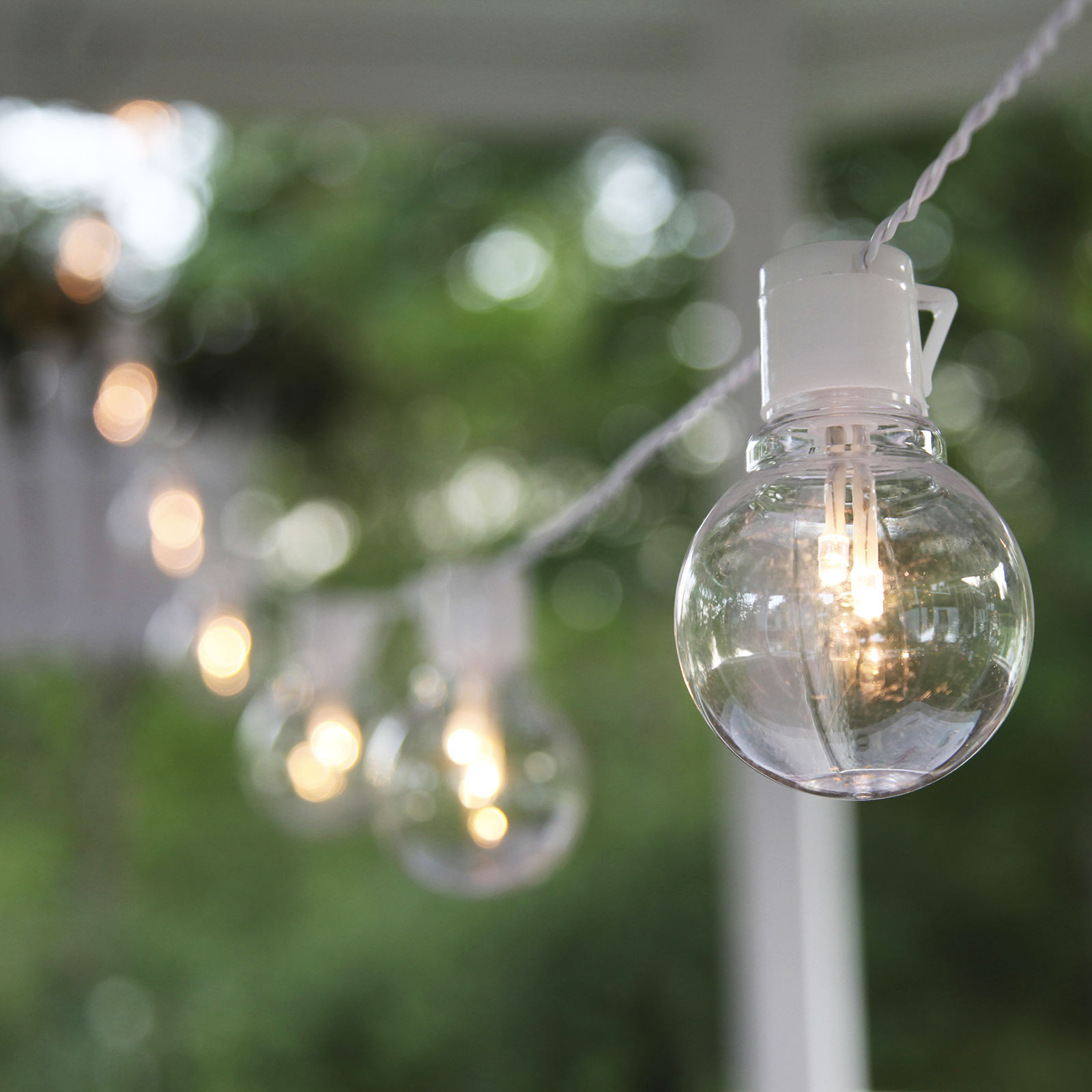 LED lichtketting Partaj, wit