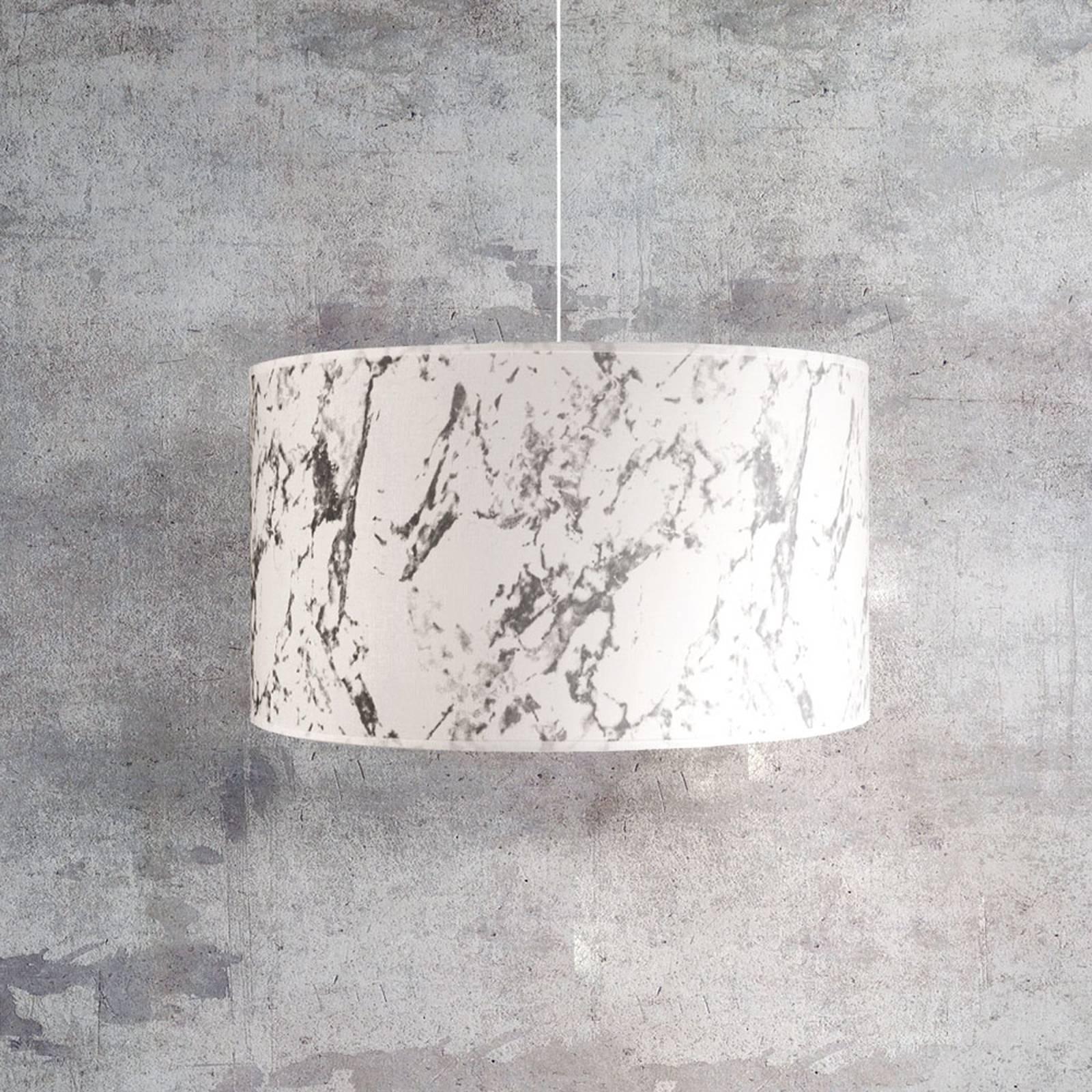 Hängeleuchte Marble, weiß marmoriert