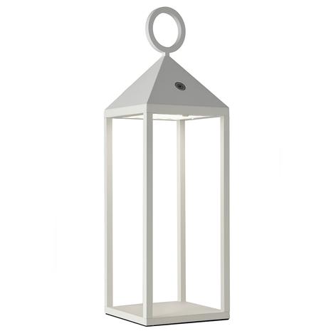 Lámpara de mesa LED Cargo para exterior, blanco