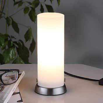Cylinderformad LED-bordslampa Andrew av glas