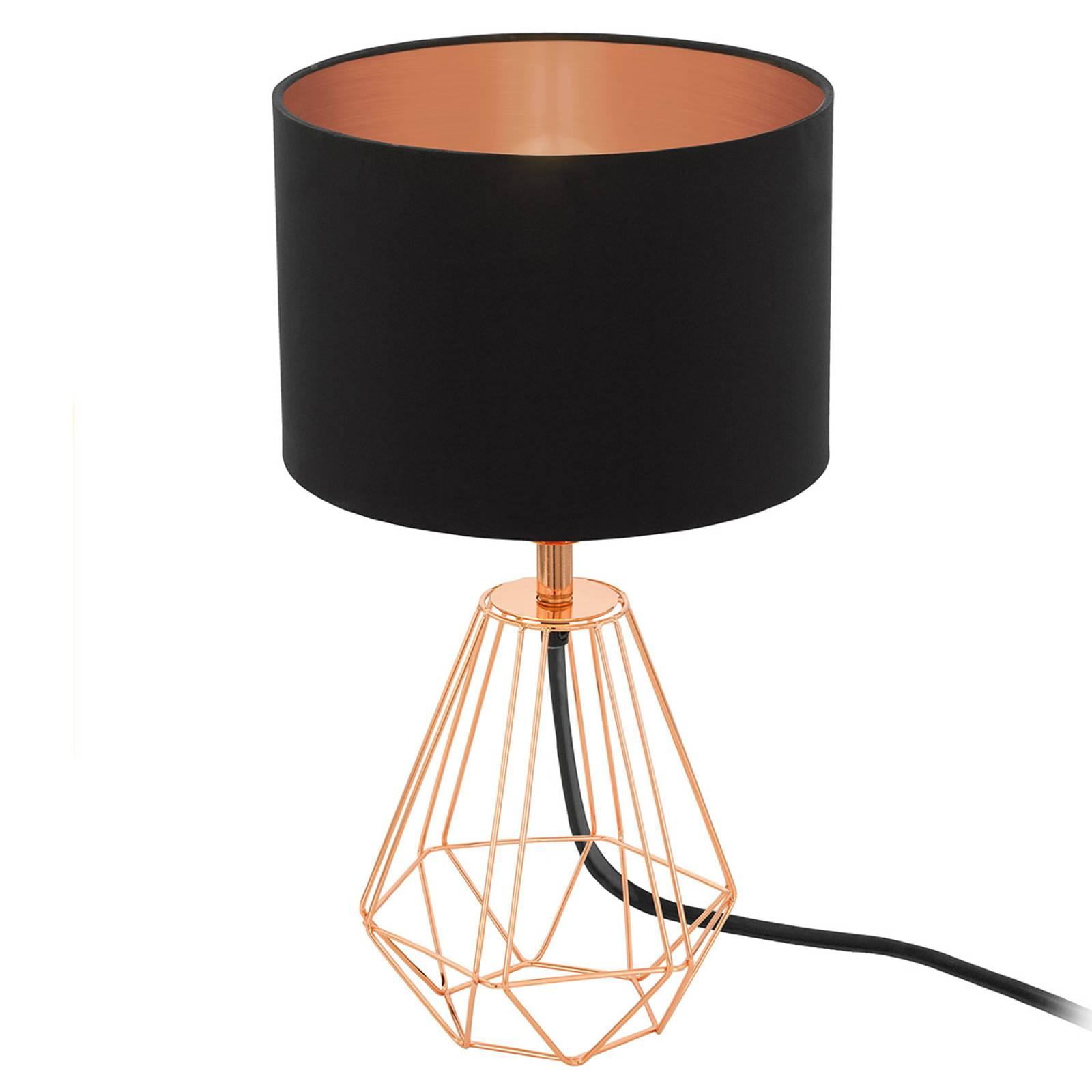 Tafellamp Carlton 2 zwart-koper
