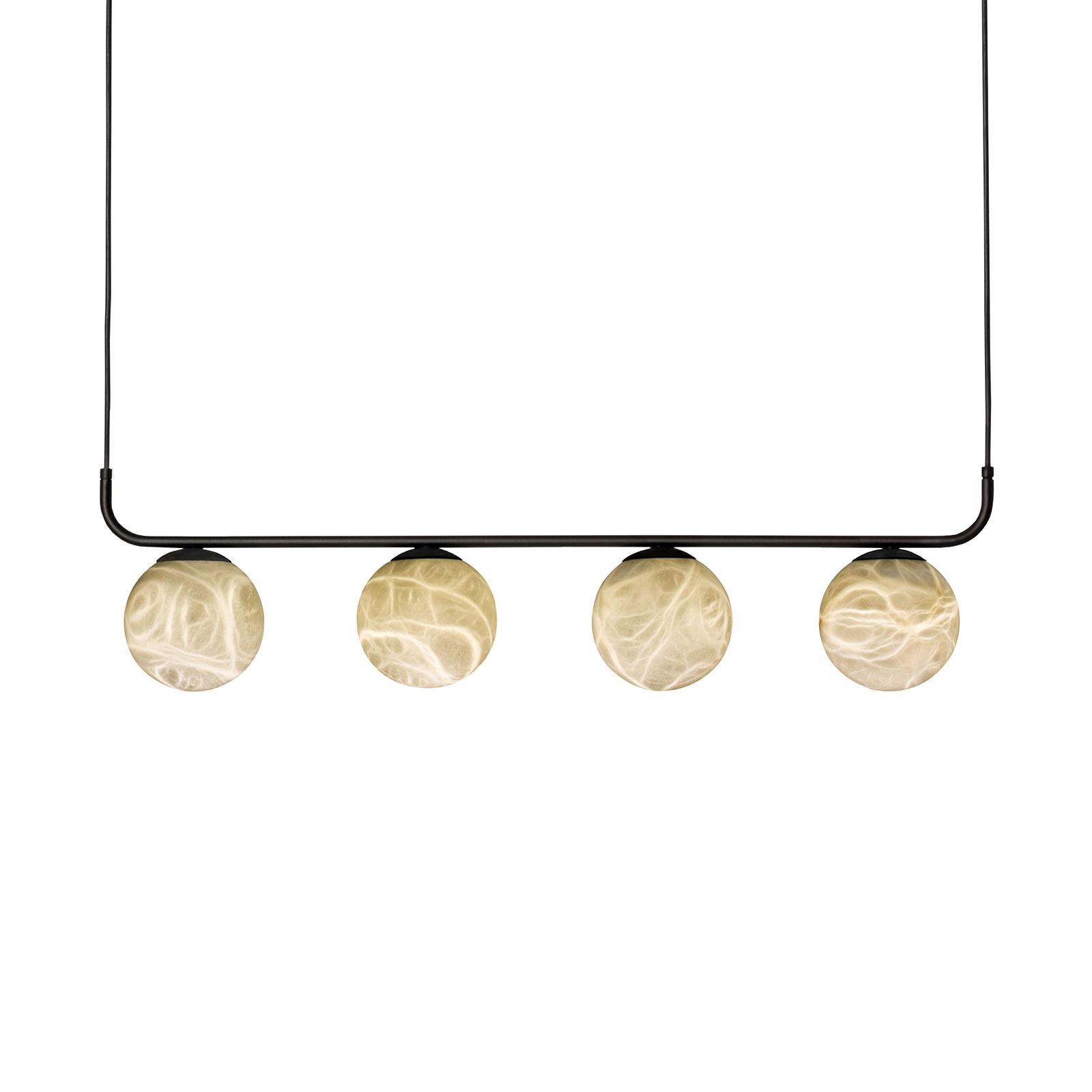 LED-hänglampa Tribeca med alabaster 4 lampor