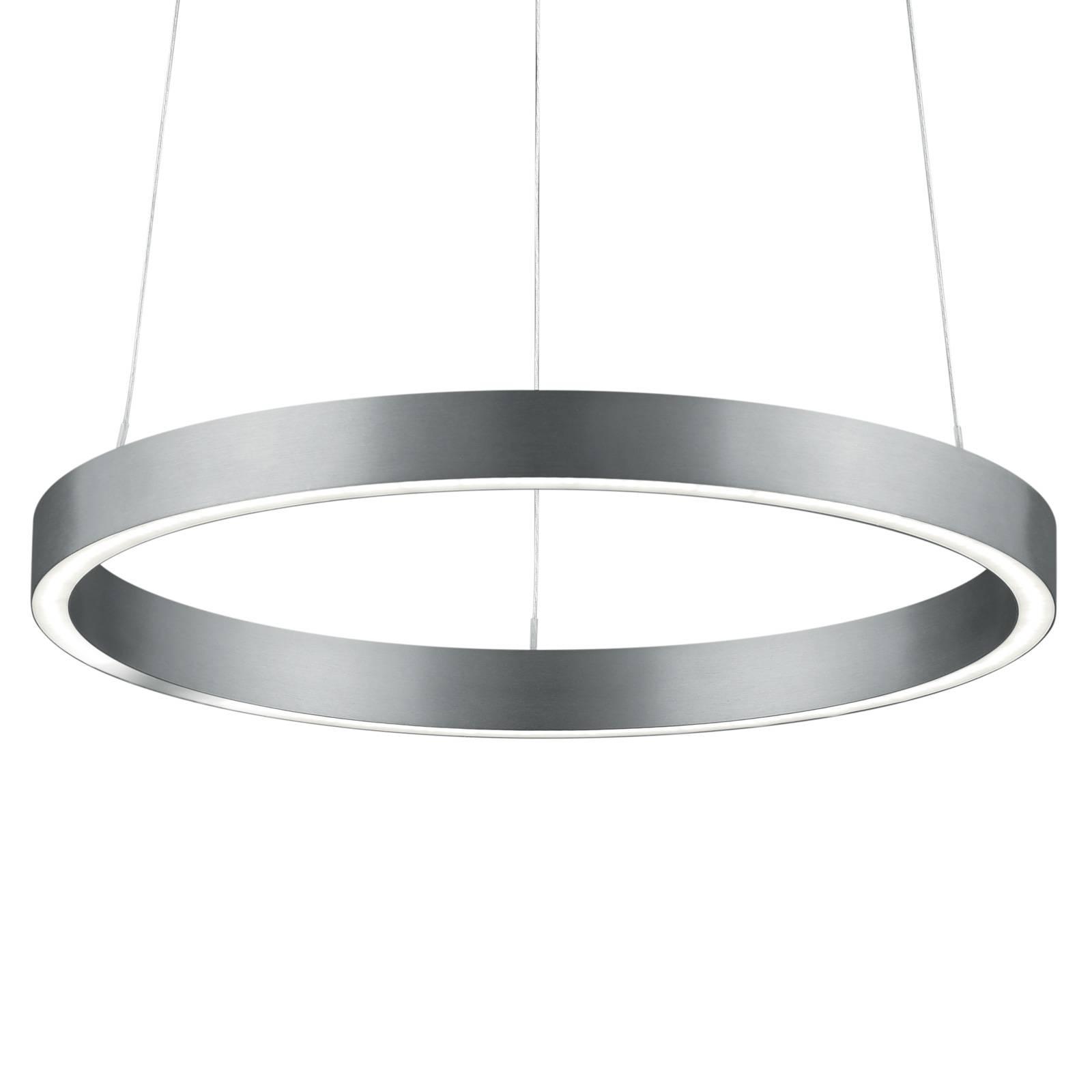 Lampa wisząca LED Svea-40 sterowana gestami nikiel