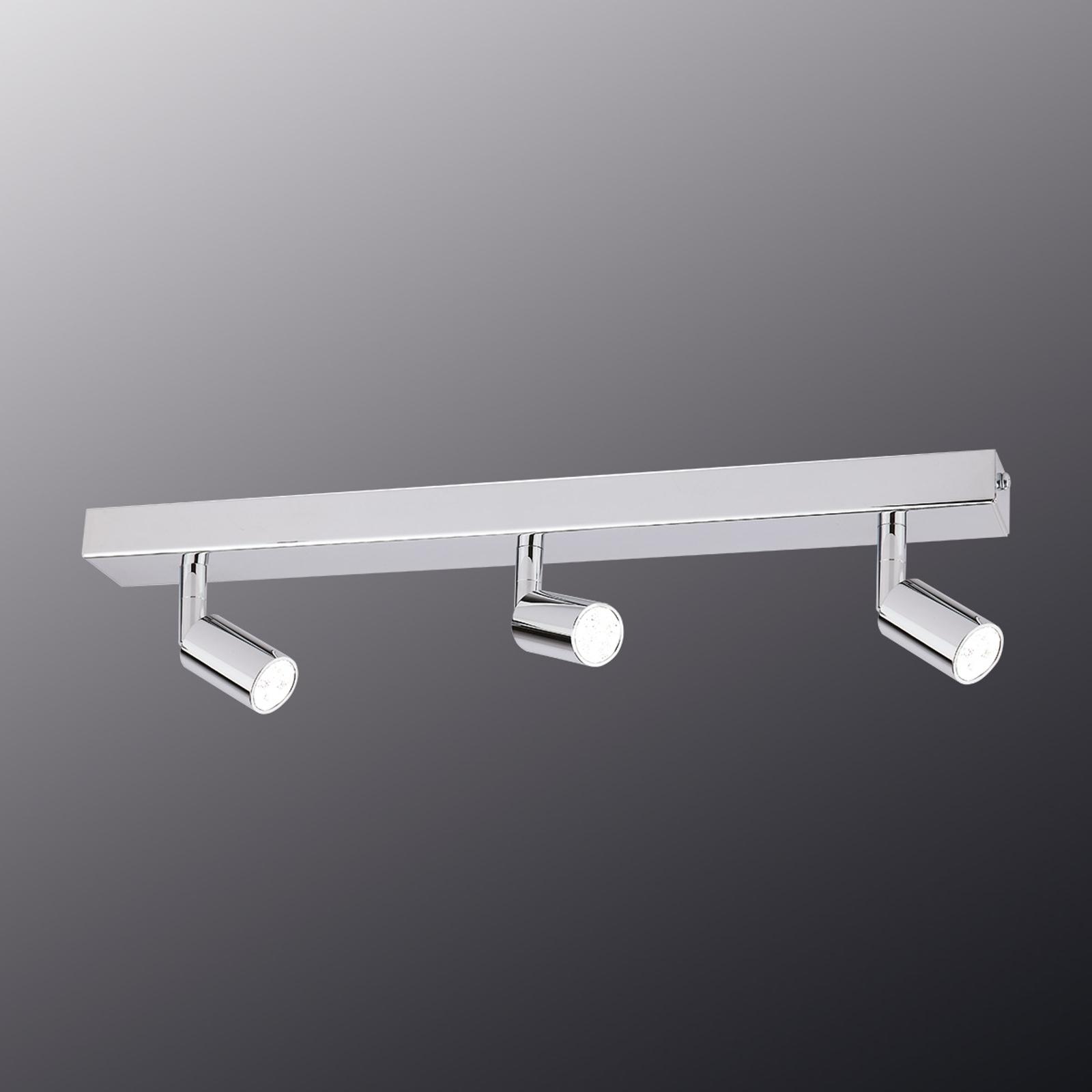 Modern gestaltete LED-Deckenleuchte 3-flg