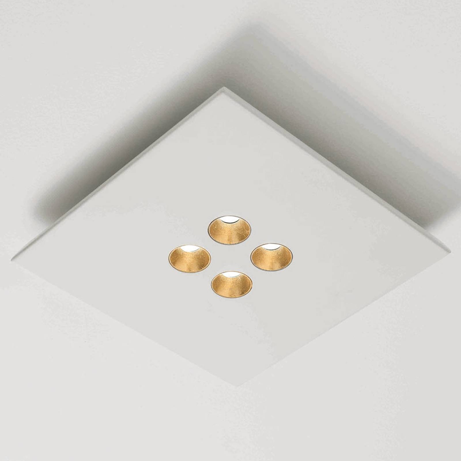 ICONE Confort - LED plafondlamp, wit-goud