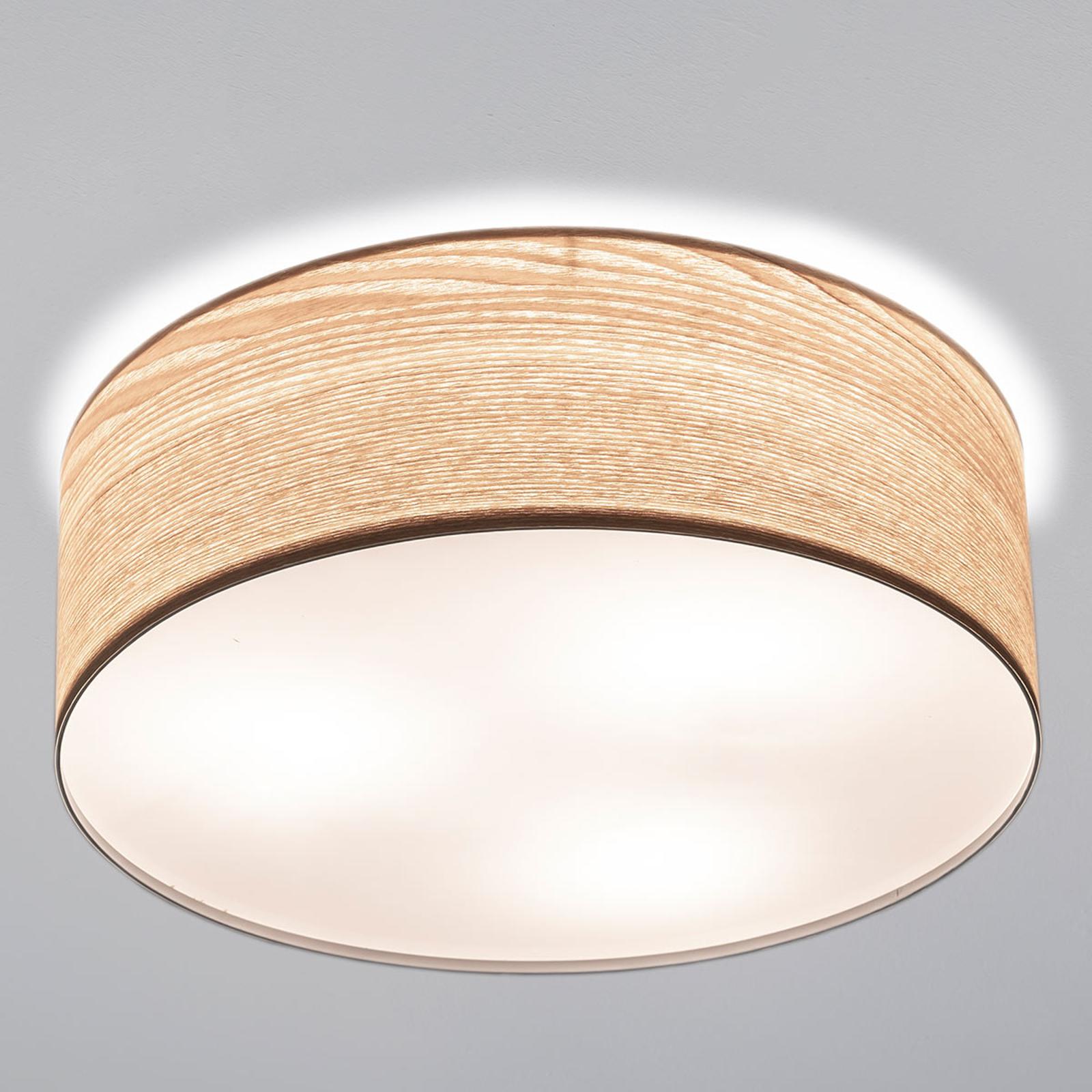Elegancka lampa sufitowa Liska w jasnym drewnie