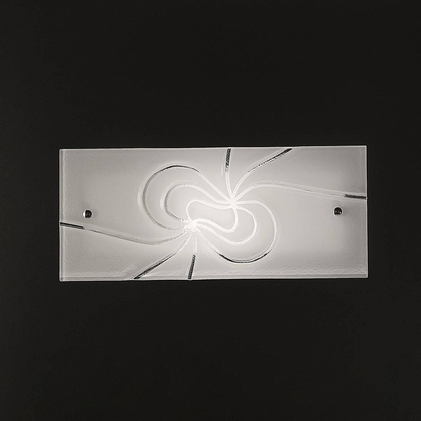 Applique en verre décorative Mistral 35cm