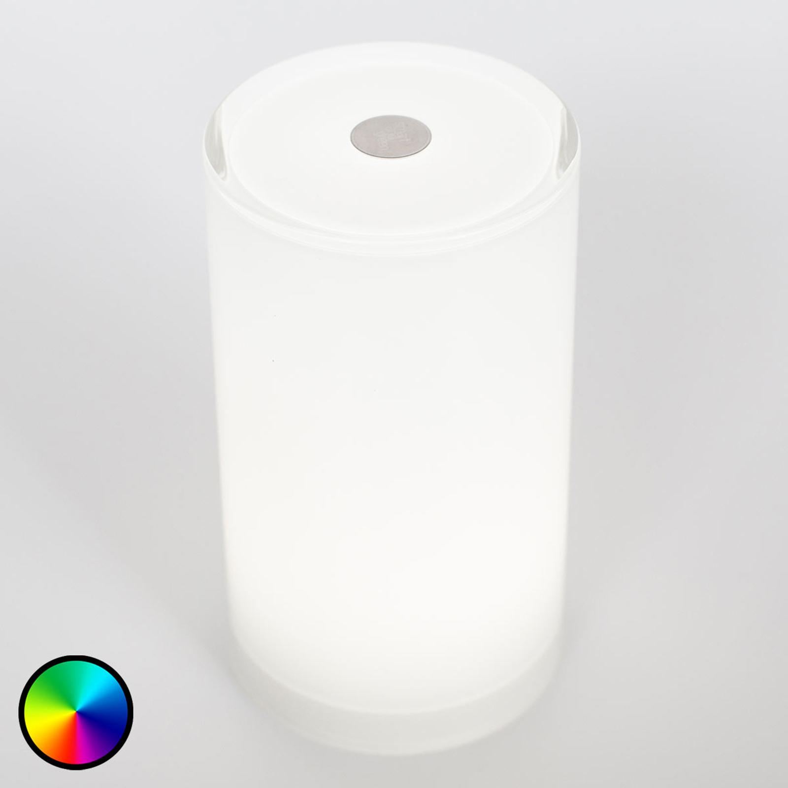 Trådløs bordlampe Tub styrbar med app, RGBW