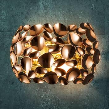Applique LED Narisa dorée rosée/brune
