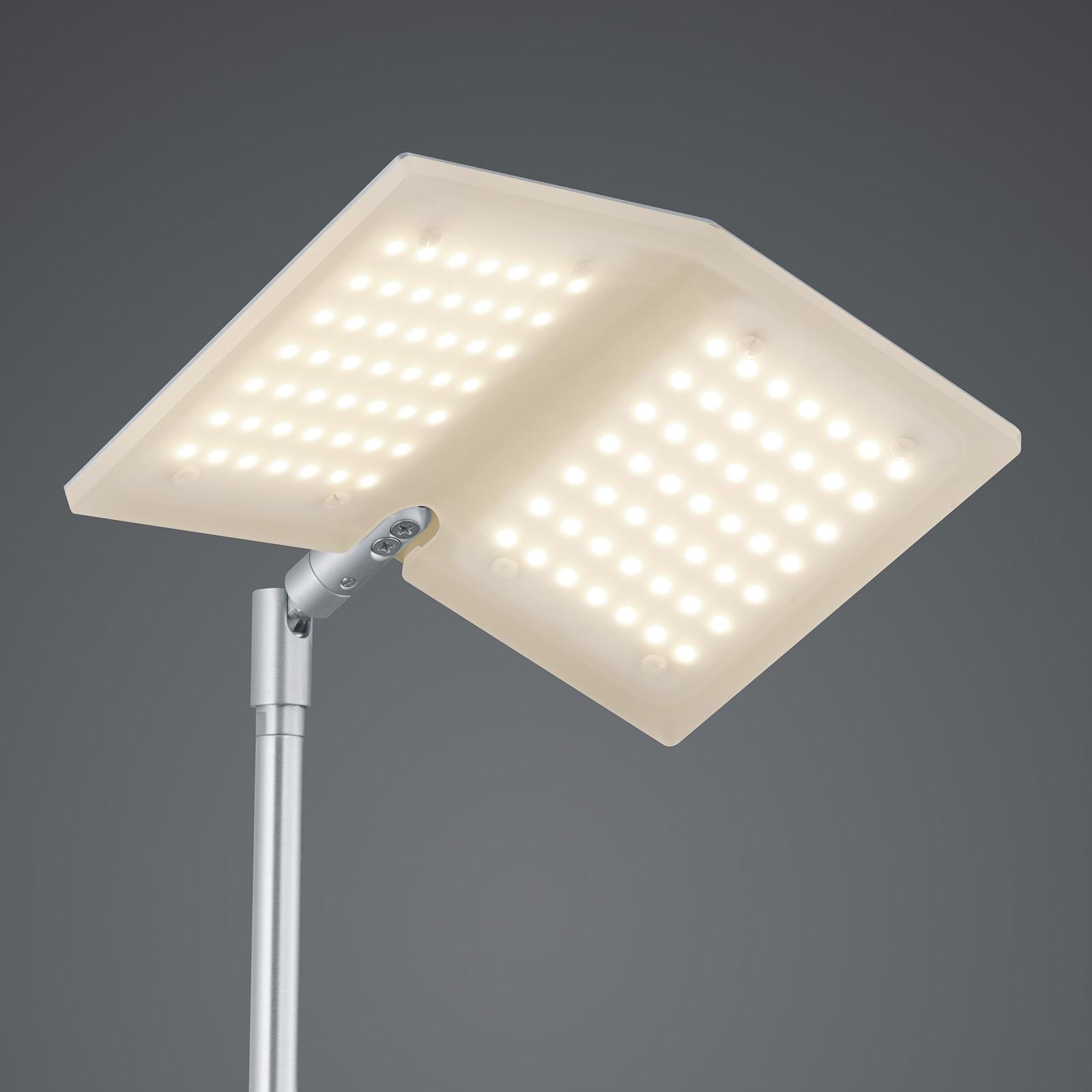 BANKAMP Book LED-golvlampa nickel matt
