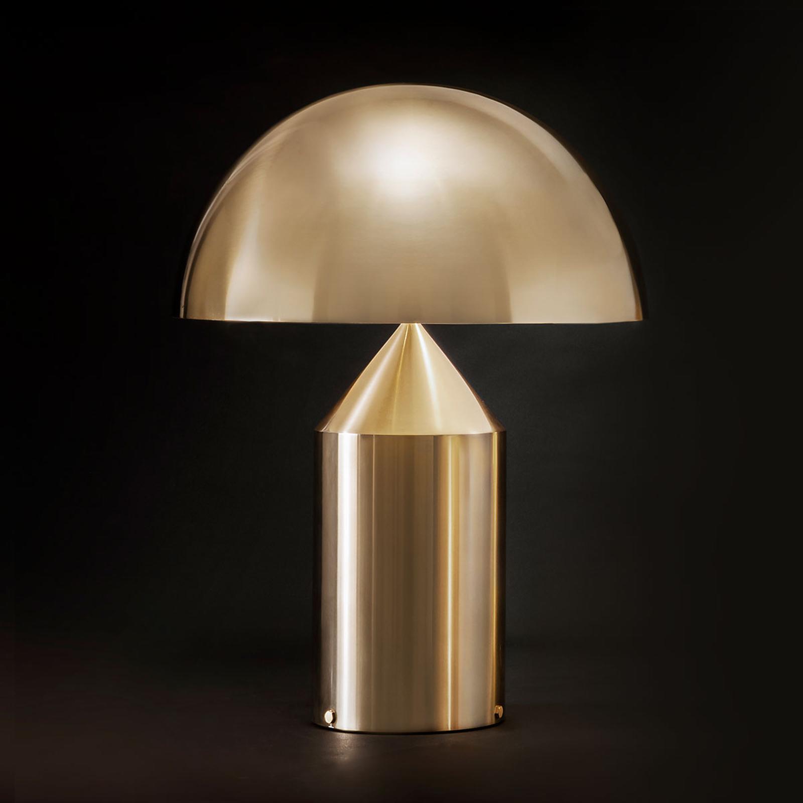 Oluce Atollo - Tischleuchte mit Dimmer, gold