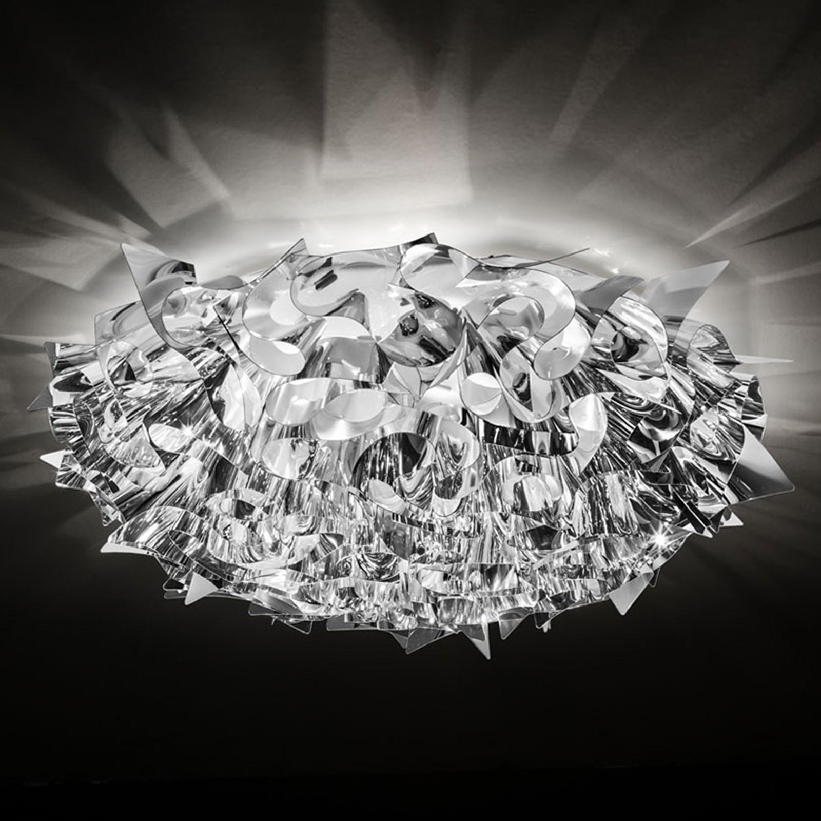 Slamp Veli Large designertaklampa Ø78 cm silver