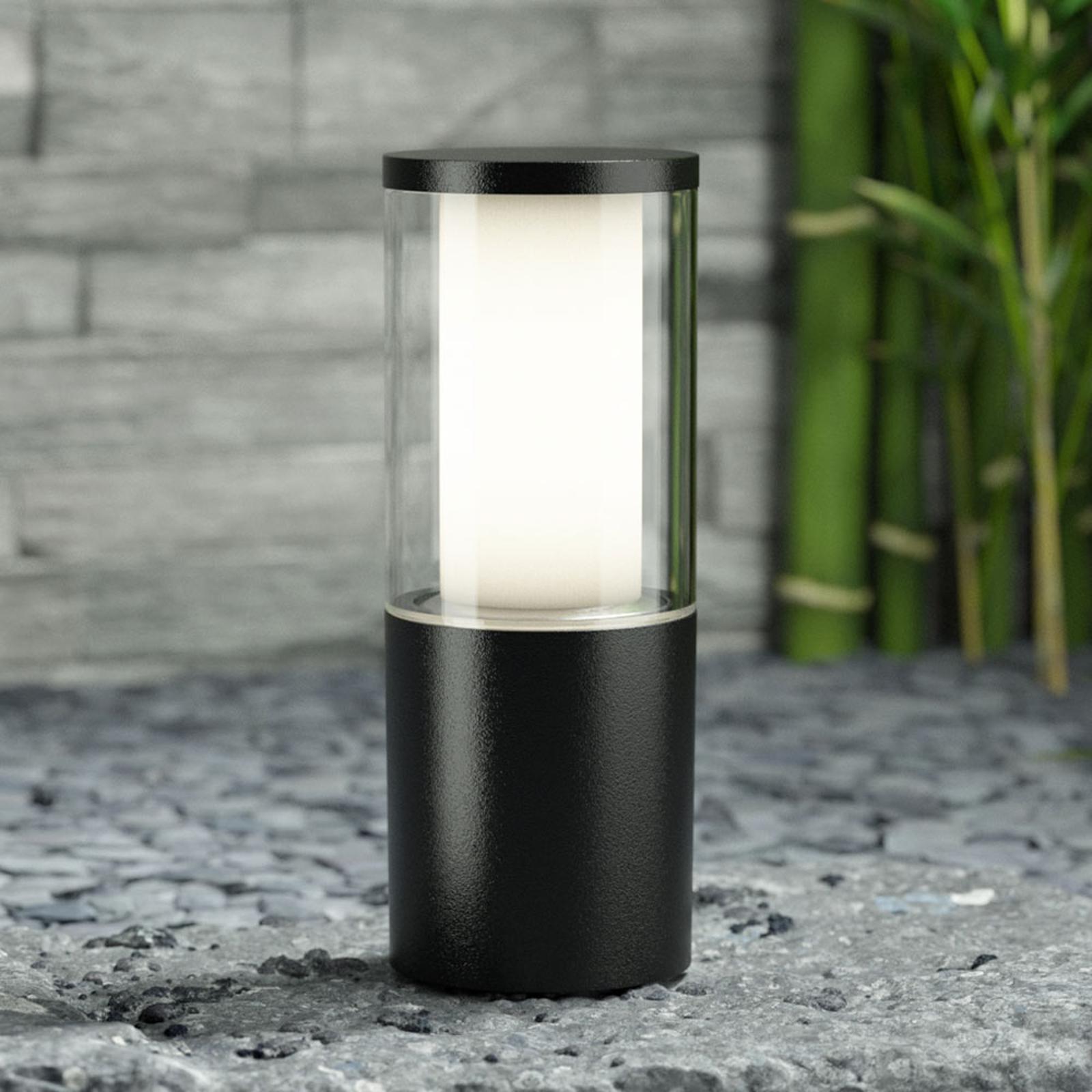 LED-Sockelleuchte Carlo schwarz 3,5W CCT Höhe 25cm