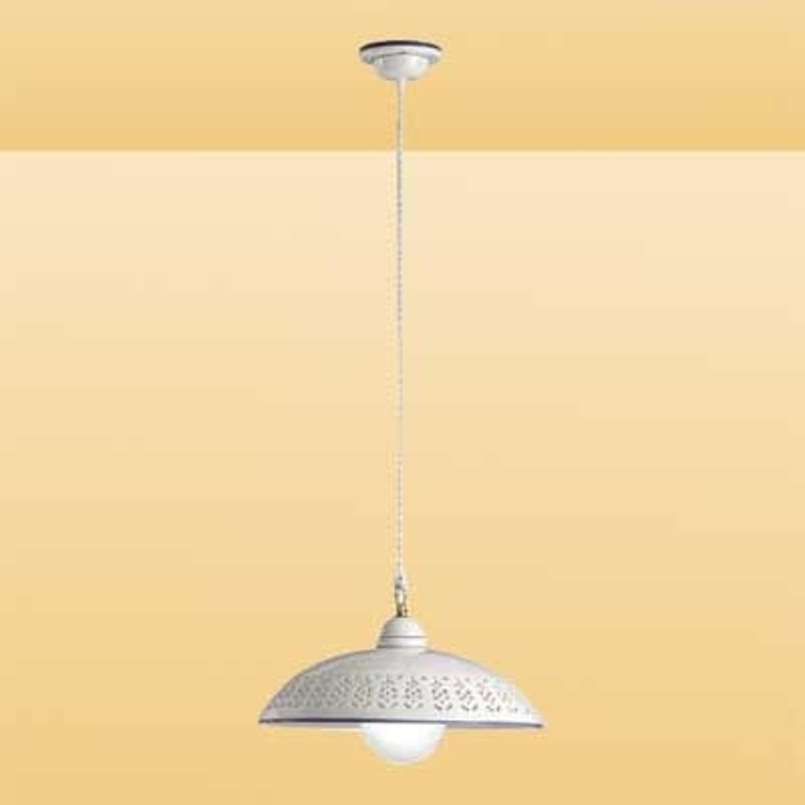 Biała lampa wisząca SFILATA z ceramiki
