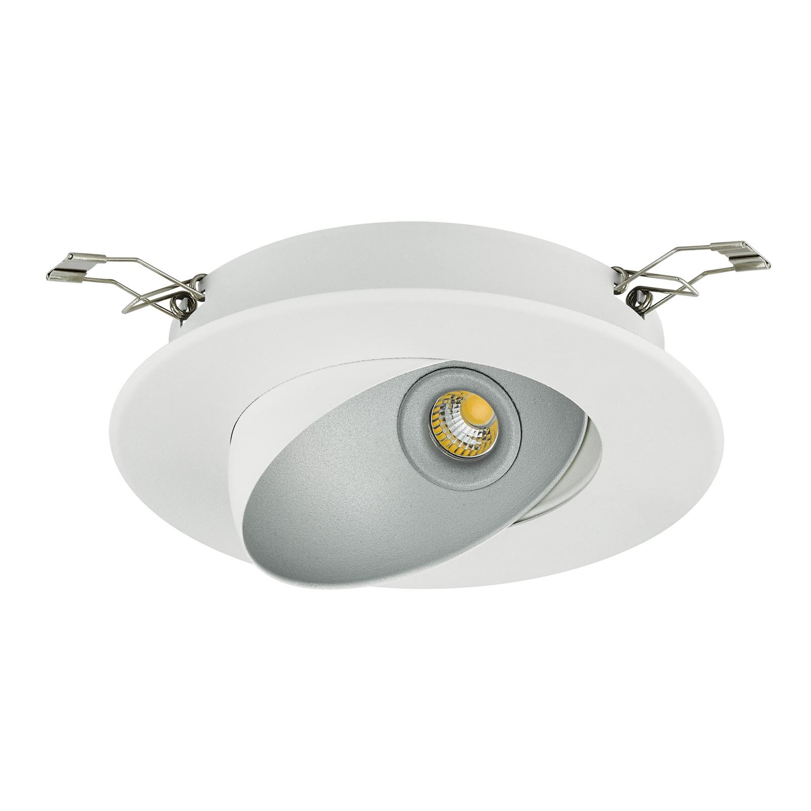 Reflektor wpuszczany LED Ronzano 1 biały-srebrny