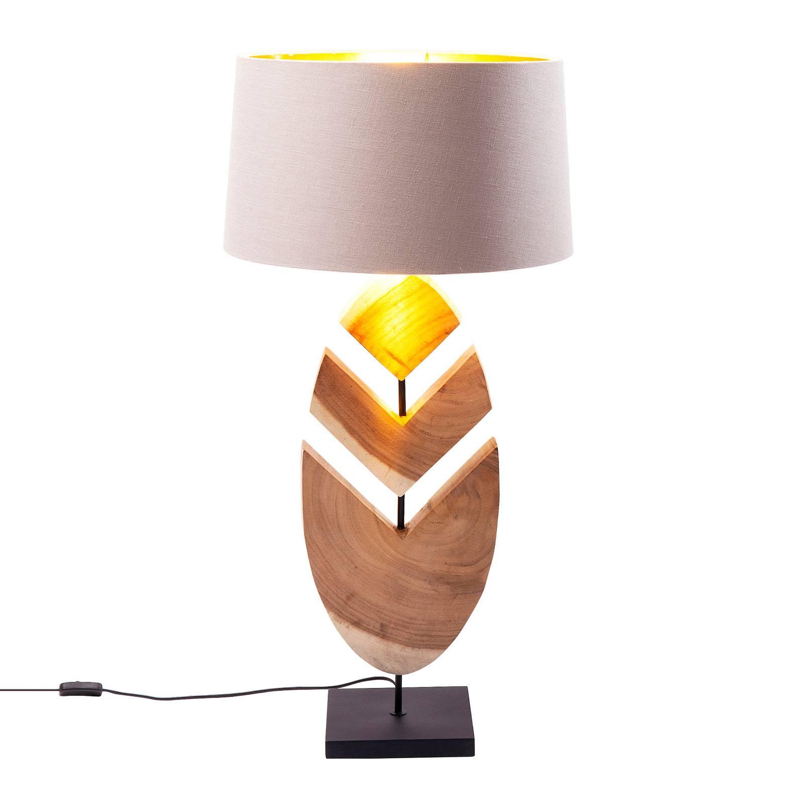 KARE Feather tafellamp met acaciahout