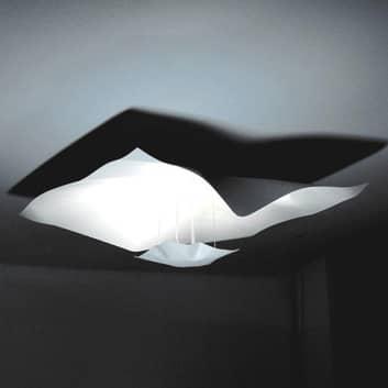 Lámpara de techo Crash en blanco, 75 cm