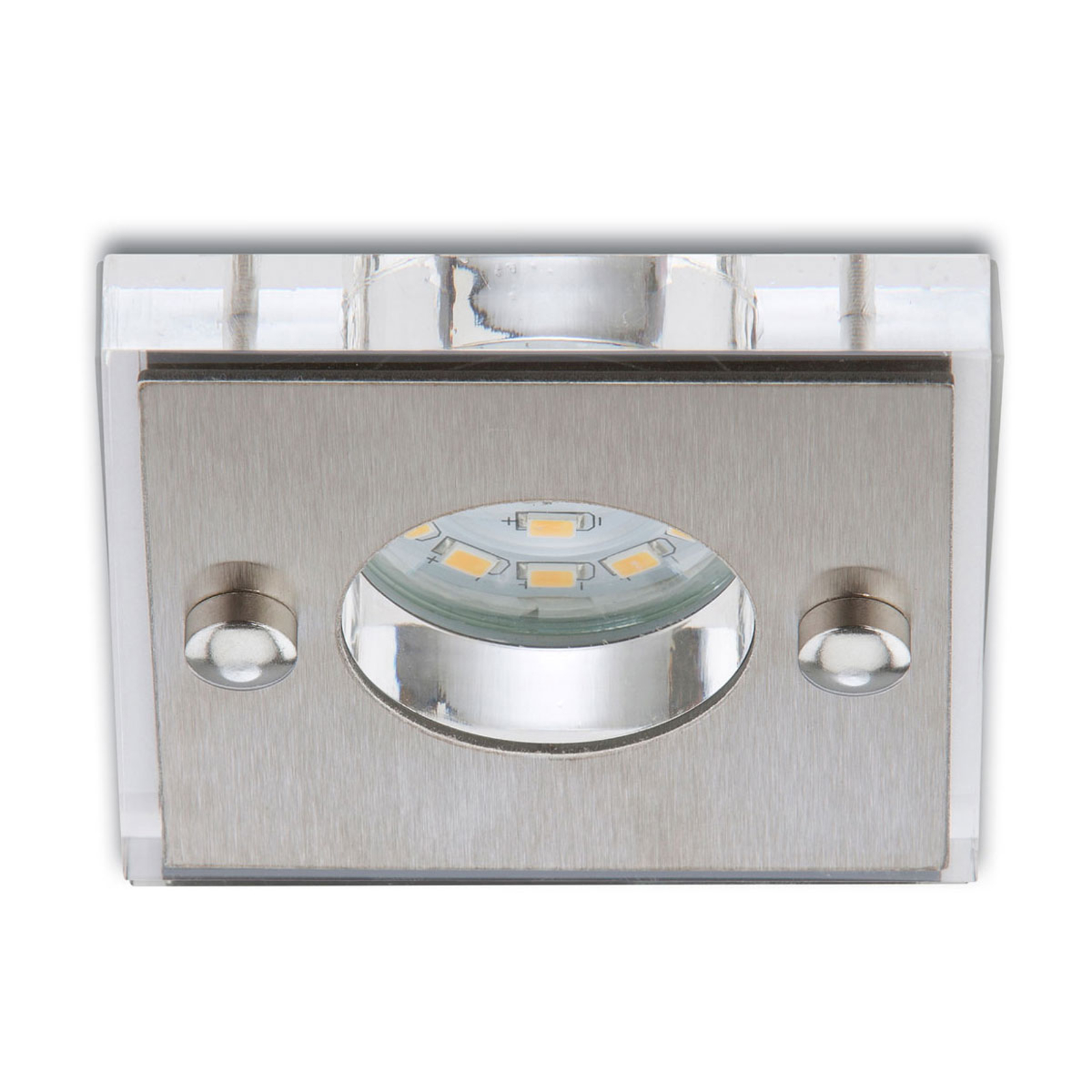 Spot encastré LED Luca carré aluminium