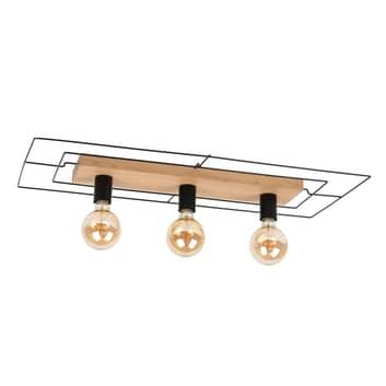 Envolight Bridge plafondlamp, 3-lamps, rechthoekig