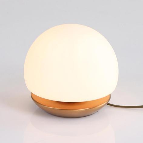 Pequeña lámpara de mesa LED Ancilla, bronce