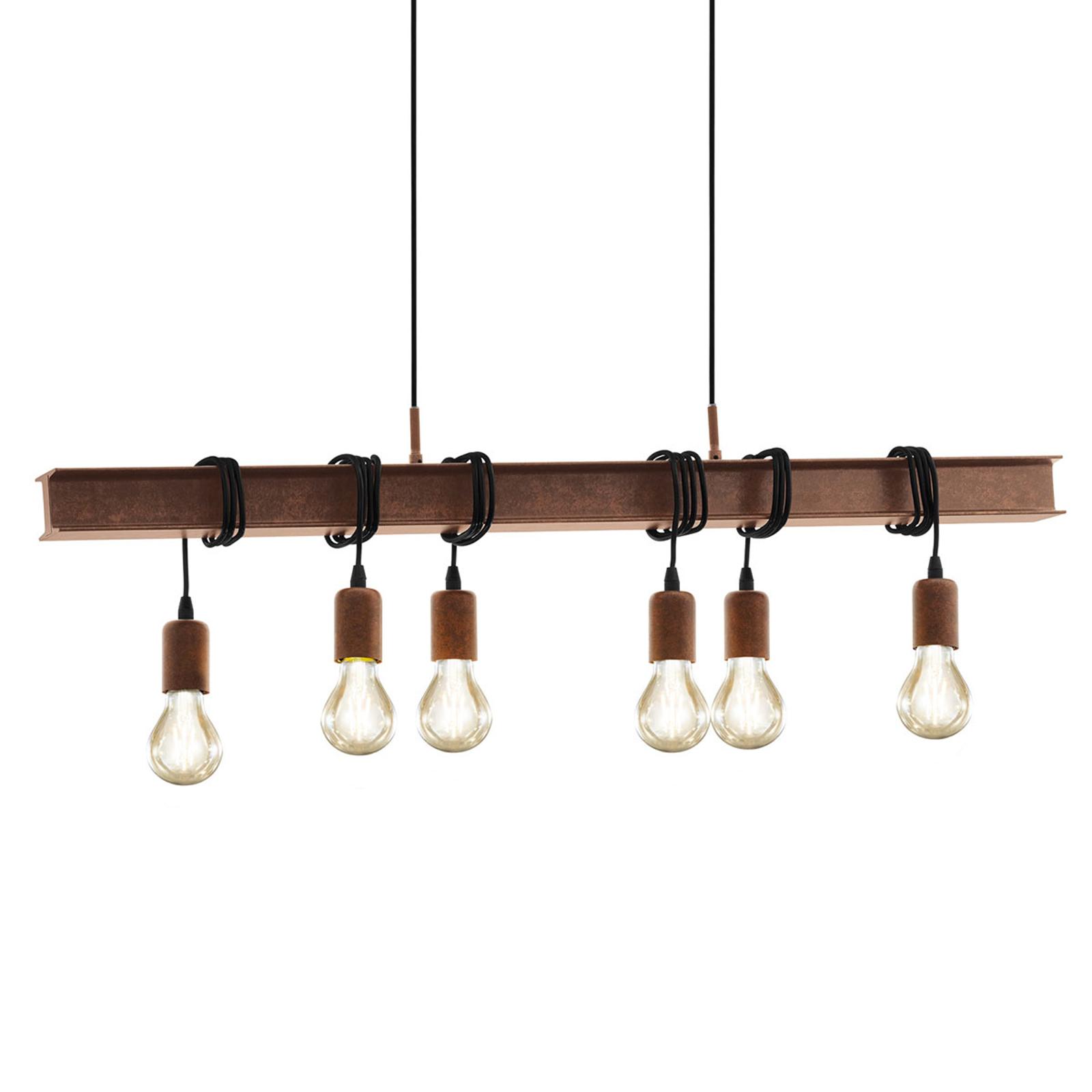 Hanglamp Townshend 4 in donkerbruin