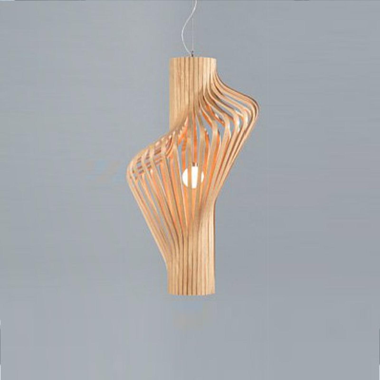Piękna designerska lampa wisząca Diva, dąb